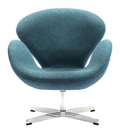 Купить Кресло Swan Chair Сине-зеленая Шерсть