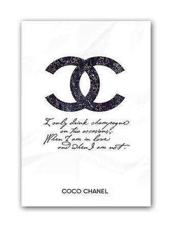 Купить Постер Drink champagne. Coco Chanel А4
