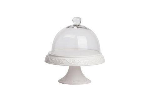 Купить Сервировочный поднос с куполом Jovanotti Белый