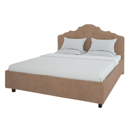 Купить Кровать Palace 160х200 Велюр Светло-коричневый
