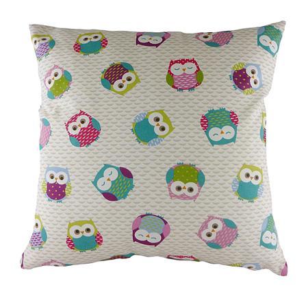 Купить Подушка с принтом Owl Print Pink