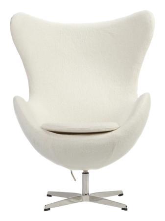 Купить Кресло Egg Chair Кремовое 100% Кашемир