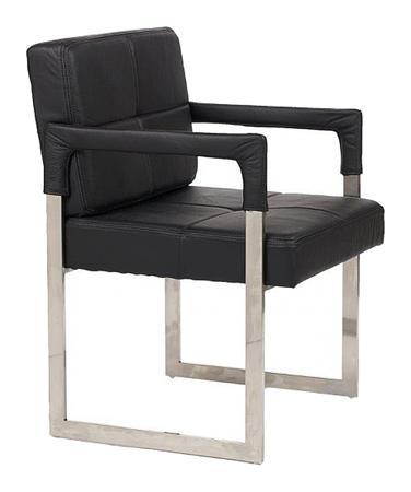 Купить Кресло Aster Chair Черная Кожа Класса Премиум