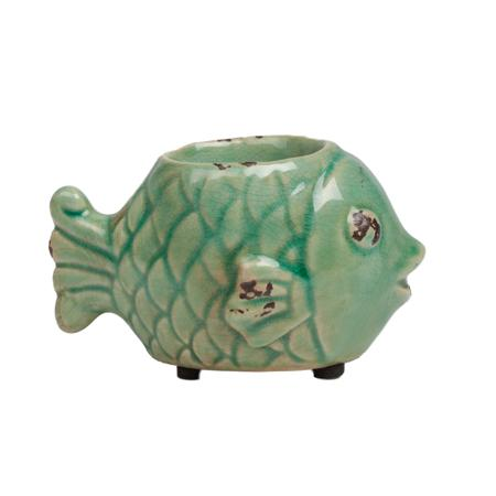 Купить Подсвечник Рыбка Голубой