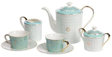 Купить Чайный сервиз Turquoise Veil
