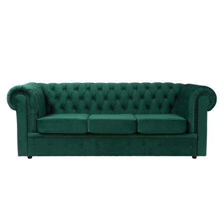 Купить Диван Честерфилд (Chesterfield) большой Зелёный