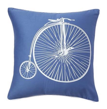 Купить Подушка с ретро-велосипедом Retro Bicycle Blue