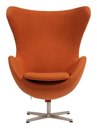 Купить Кресло Egg Chair Оранжевое 100% Кашемир