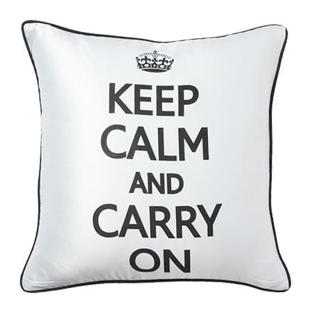 Купить Подушка с надписью Keep Calm and Carry On