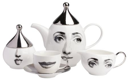 Купить Чайный сервиз Пьеро Форназетти Faces Silver