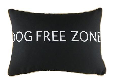 Купить Подушка с надписью Dog Free Zone