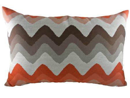 Купить Подушка с цветными волнами Orange Chevron