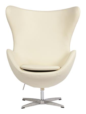 Купить Кресло Egg Chair Кремовое Кожа Класса Премиум