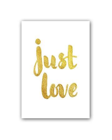 Купить Постер Just love А4