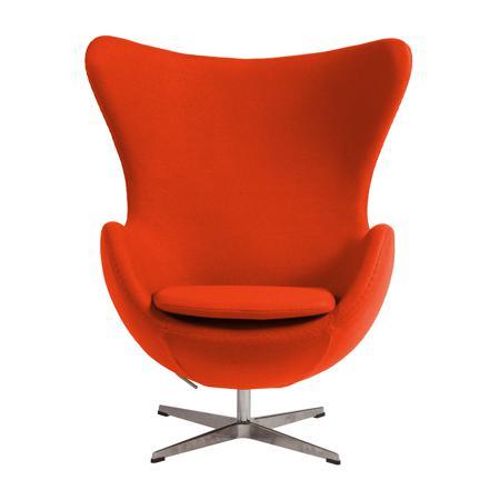 Купить Кресло Egg Chair Морковное 100% Шерсть