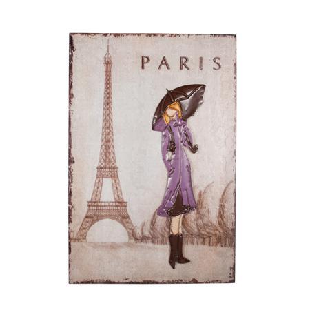 Купить Декоративное настенное панно Paris Girl