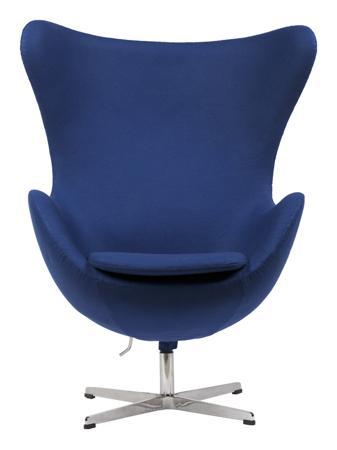 Купить Кресло Egg Chair Синее 100% Кашемир
