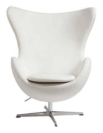 Купить Кресло Egg Chair Белое Кожа Класса Премиум