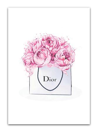 Купить Постер Dior peonies А4