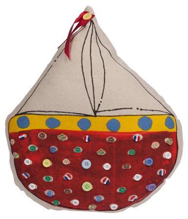 Купить Декоративная подушка с парусником Sailboat