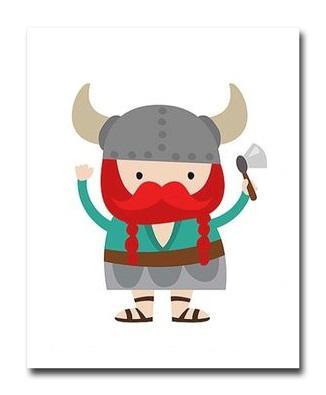 Купить Постер Викинг Мальчик с топором А3