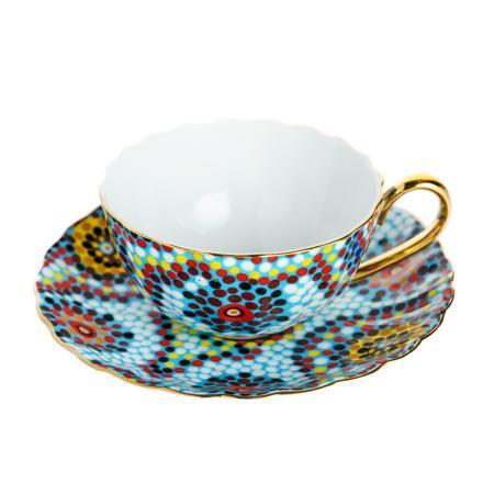 Купить Чайная пара Мозаика Голубая