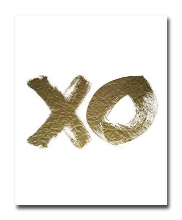 Купить Постер XO золотой A4
