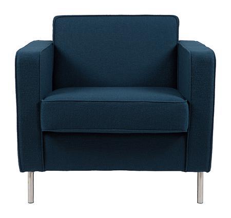 Купить Кресло George Сине-серая Шерсть