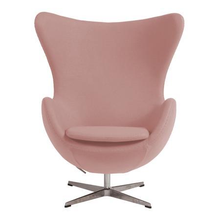 Купить Кресло Egg Chair Светло-розовое 100% Шерсть