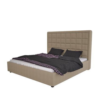 Купить Кровать Elizabeth 140х200 Велюр Коричнево-Серый