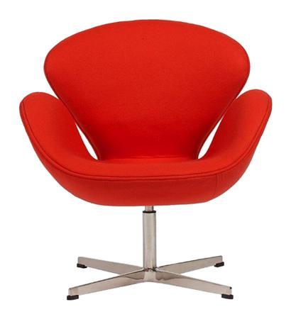 Купить Кресло Swan Chair Красный Кашемир