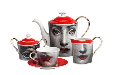Купить Чайный сервиз Faces Пьеро Форназетти Red