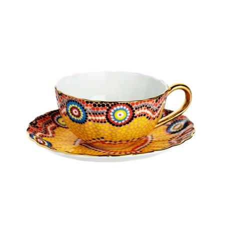 Купить Чайная пара Мозаика Оранжевая