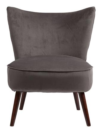 Купить Кресло Vermont Chair Тёмно-Серый Велюр