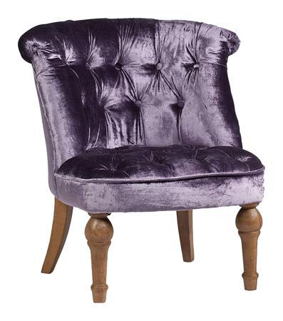 Купить Кресло Sophie Tufted Slipper Chair Фиолетовый Вельвет