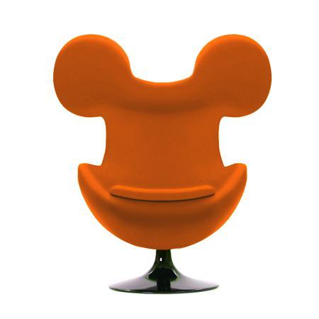 Купить Кресло Egg Mickey Оранжевое 100% Шерсть