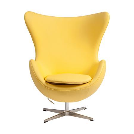Купить Кресло Egg Chair Желтая Кожа Класса Премиум