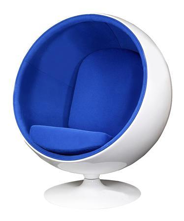 Купить Кресло Eero Ball Chair Синяя Шерсть