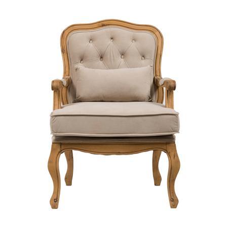 Купить Кресло Belladonna Бежевый Вельвет