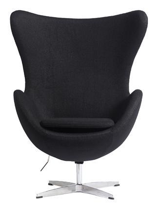 Купить Кресло Egg Chair Чёрное100% Шерсть