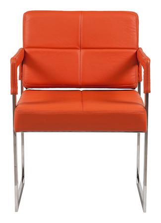 Купить Кресло Aster Chair Оранжевая Кожа Класса Премиум