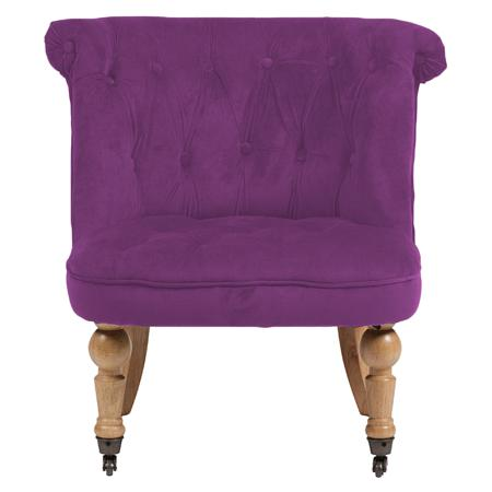 Купить Кресло Amelie French Country Chair Фиолетовый Велюр