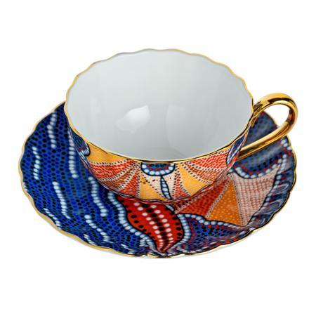 Купить Чайная пара Мозаика Фиолетовая