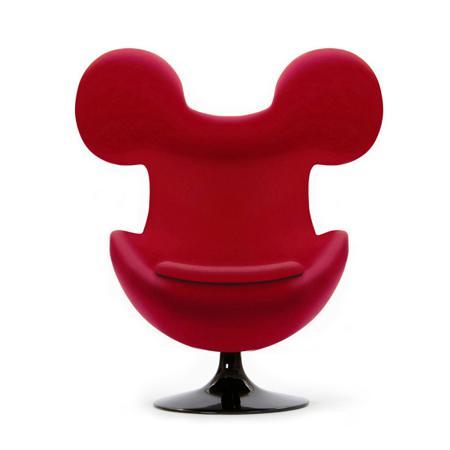 Купить Кресло Egg Mickey Красное 100% Шерсть