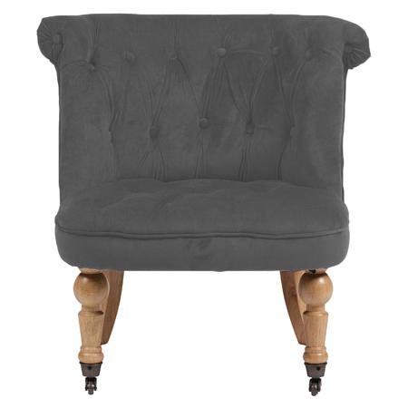Купить Кресло Amelie French Country Chair Светло-серый Велюр