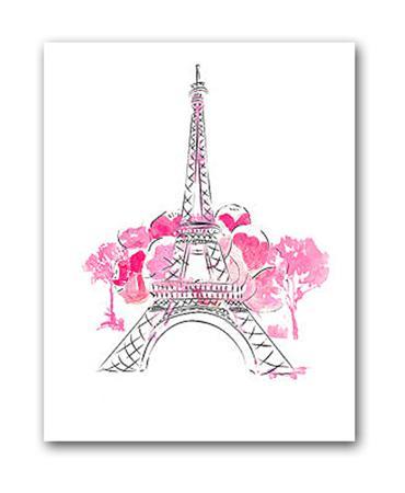 Купить Постер Paris А3 (розовый)