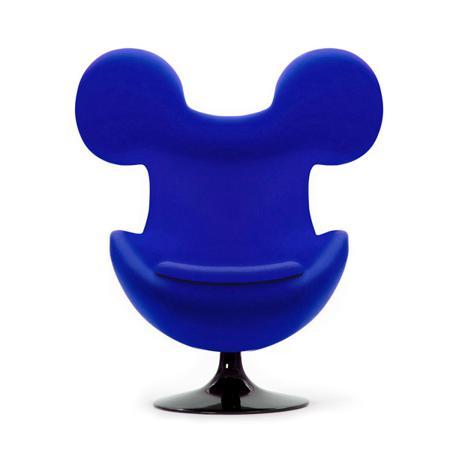 Купить Кресло Egg Mickey Синее 100% Шерсть