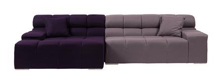 Купить Диван Tufty-Time Sofa Фиолетово-серый Шерсть