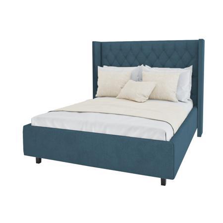 Купить Кровать Wing-2 180х200 Велюр Морская волна