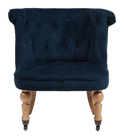Купить Кресло Amelie French Country Chair Синий Вельвет